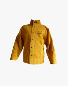 Premium Gold Leather Welders Jacket